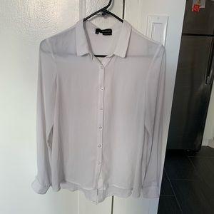 The Kooples sheer white blouse
